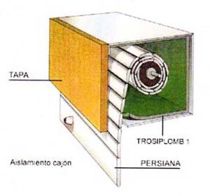 aislamiento de cajón de persiana