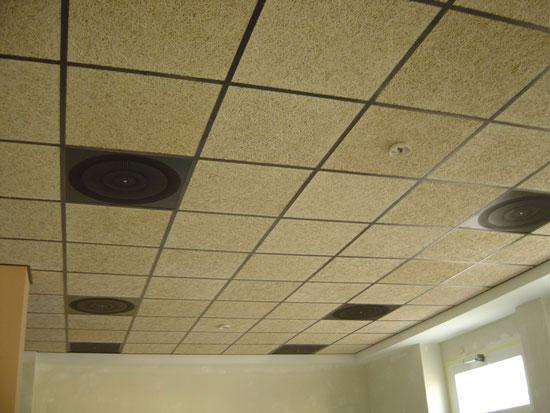 Techos desmontables correctores ac sticos de madera - Falso techo modular ...